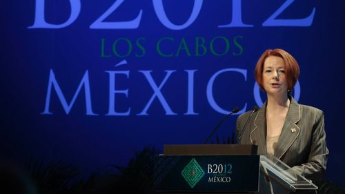 Julia Gillard Mexico G20 Summit